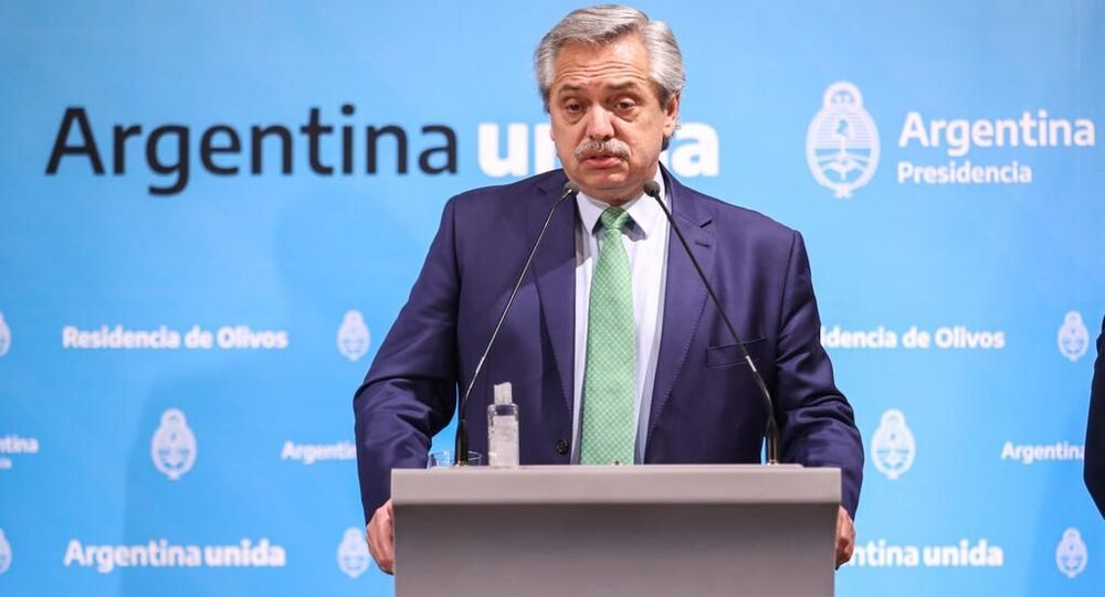 O presidente da Argentina Alberto Fernández