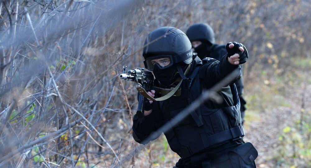 Forças da unidade antiterrorismo russa SOBR