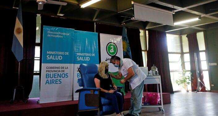 Vacinação contra COVID-19 na Argentina com a vacina russa Sputnik V