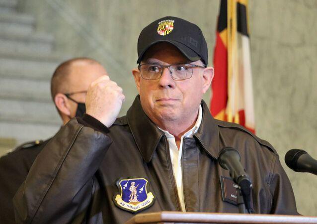 O governador do estado norte-americano de Maryland, Larry Hogan