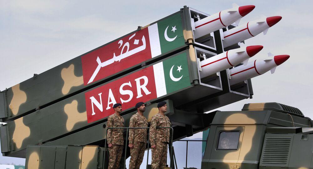 Sistema de míssil paquistanês (imagem referencial)