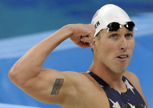 Klete Keller, campeão olímpico da natação, fez parte do grupo que invadiu o Capitólio dos Estados Unidos. A foto mostra Keller na disputa dos Jogos Olímpicos Pequim 2008.