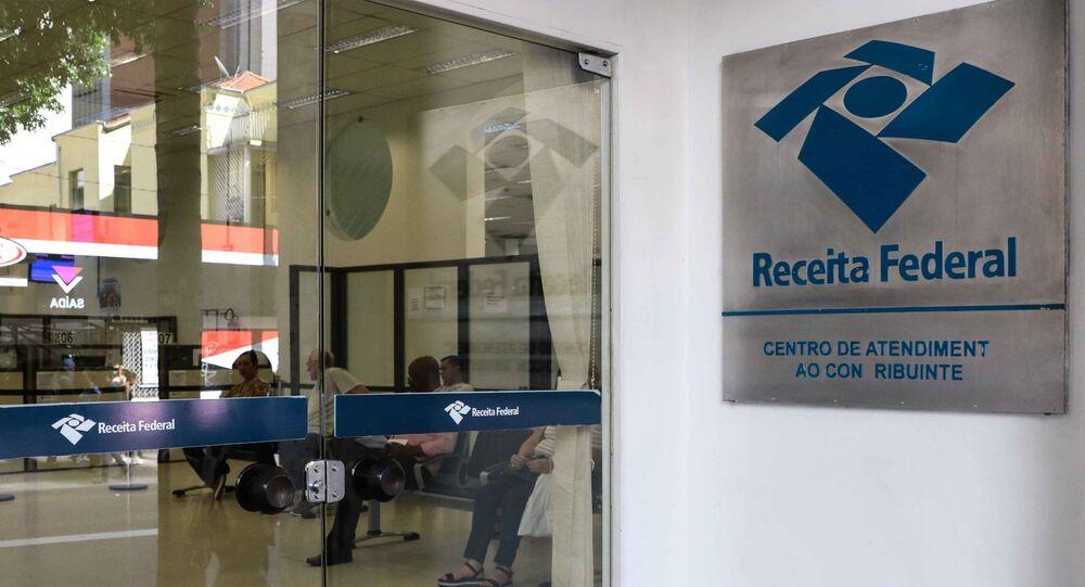 Sala da Receita Federal em São Paulo