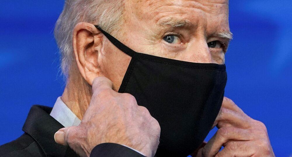 Presidente eleito dos EUA, Joe Biden, durante nomeação de membros de comitê científico, em Wilmington, Delaware, EUA, 16 de janeiro de 2021