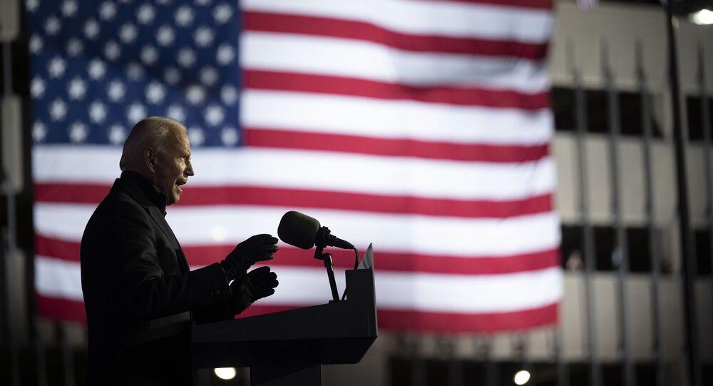 Presidente eleito Joe Biden discursa na Pensilvânia