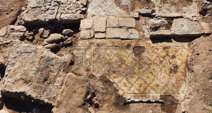 Construção onde a inscrição Cristo, filho de Maria foi descoberta, no norte de Israel
