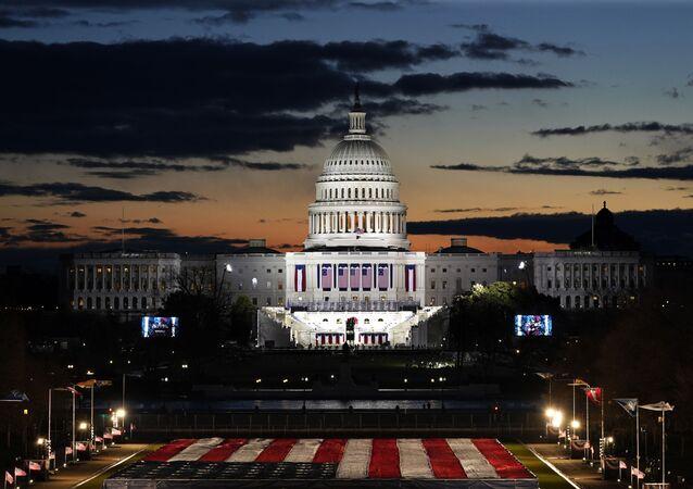 Prédio do Capitólio antes da cerimônia de posse do 46º presidente dos EUA, Joe Biden