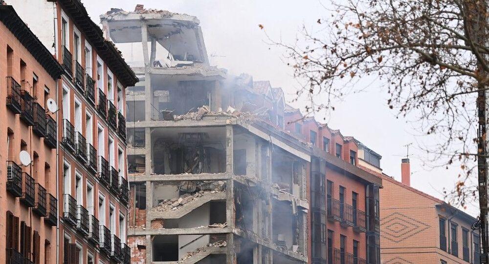 Explosão em prédio deixa mortos e feridos no centro de Madrid na segunda-feira, 20 de janeiro de 2021.