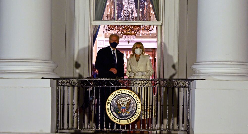 Presidente dos EUA Joe Biden e a primeira-dama Jill Biden na Casa Branca, Washington