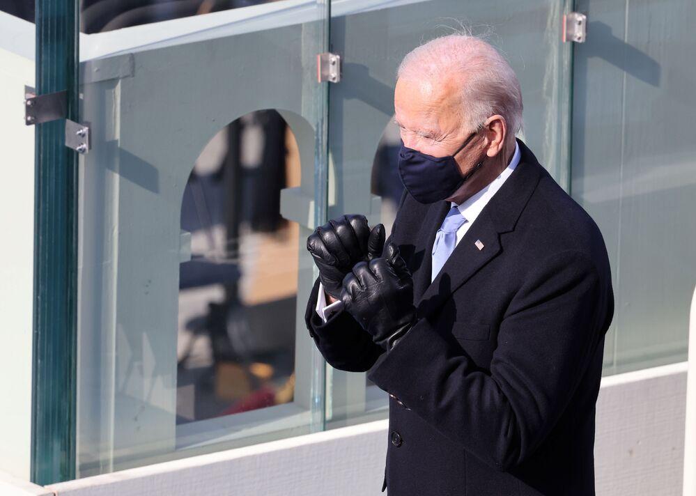 Presidente norte-americano Joe Biden durante a 59ª cerimônia de posse em Washington, 20 de janeiro de 2021