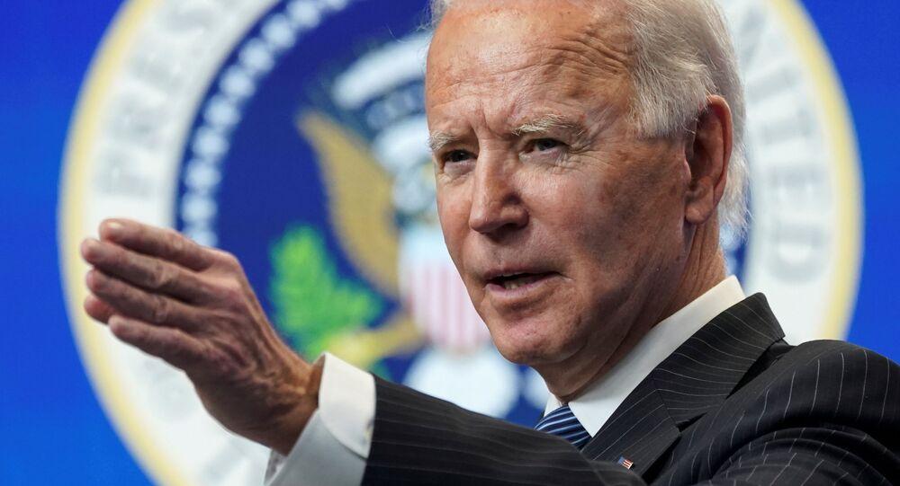Presidente dos EUA, Joe Biden, faz discurso na Casa Branca, Washington, EUA, 25 de janeiro de 2021