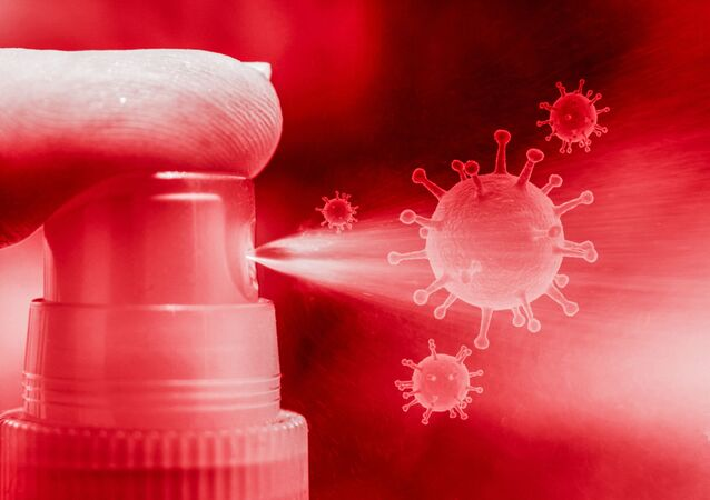 Spray contra COVID-19 (imagen referencial)