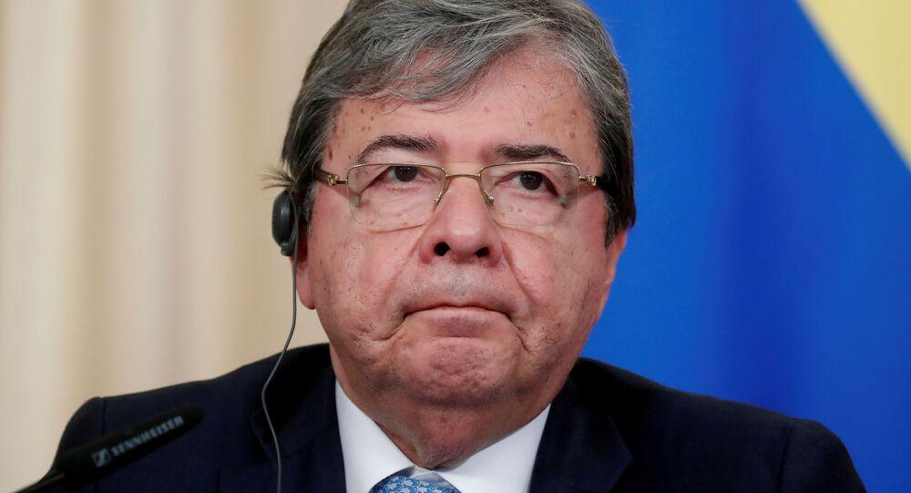 Ministro da Defesa da Colômbia Carlos Holmes Trujillo, 3 de junho de 2019