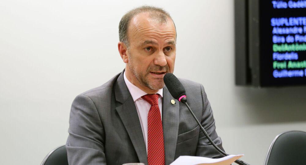 Deputado federal Helder Salomão (PT-ES)  durante atuação na Câmara dos Deputados, em Brasília (arquivo)