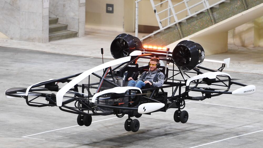Testes de drone-táxi no complexo olímpico Luzhniki, em Moscou, Rússia