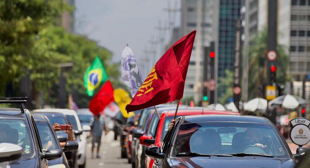 Carreata contra o presidente Jair Bolsonaro em São Paulo (SP) neste domingo, 31 de janeiro de 2021