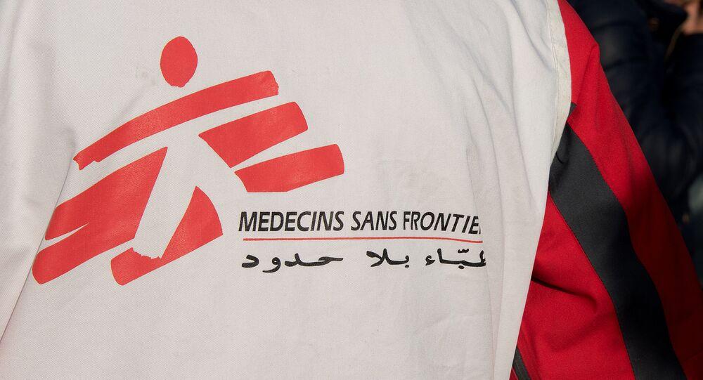 Voluntário da ONG Médicos Sem Fronteiras