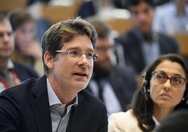 Pascal Canfin, eurodeputado e presidente da Comissão de Meio Ambiente, Saúde Pública e Segurança Alimentar do Parlamento Europeu, durante sessão em 4 de setembro de 2019