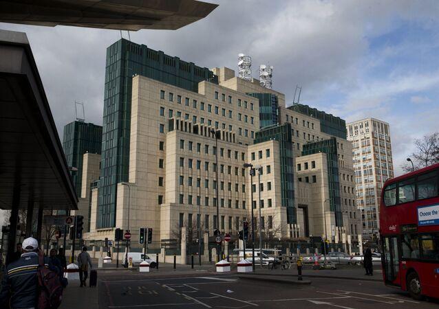 Edifício do serviço de inteligência MI6 em Londres, Reino Unido, 5 de março de 2015