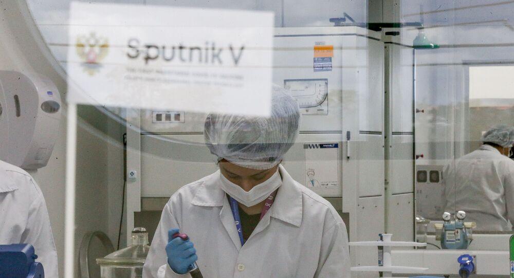 Instalações da fábrica da União Química, laboratório brasileiro que fechou acordo com o governo russo para produção da vacina contra a COVID-19 Sputnik V