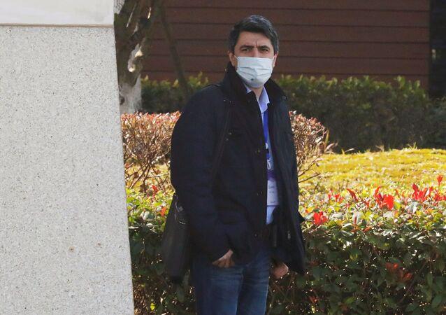 Vladimir Dedkov, especialista russo que está em missão da Organização Mundial da Saúde (OMS) que investiga as origens da pandemia.