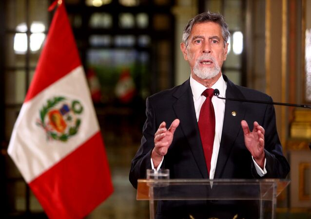 O presidente do Peru, Francisco Sagasti
