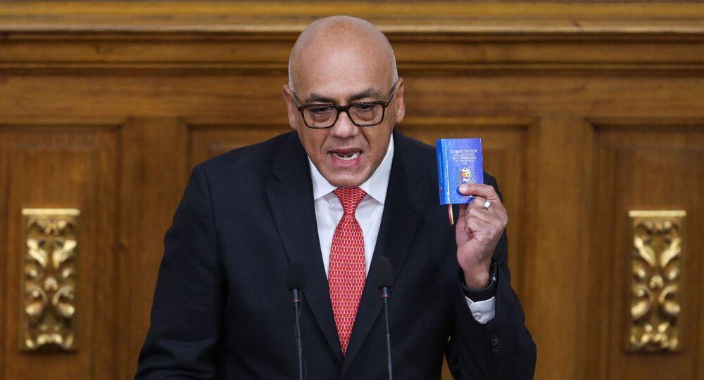 Jorge Rodríguez, presidente da Assembleia Nacional da Venezuela