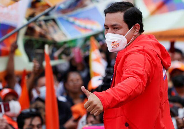 Andrés Arauz, candidato à presidência do Equador