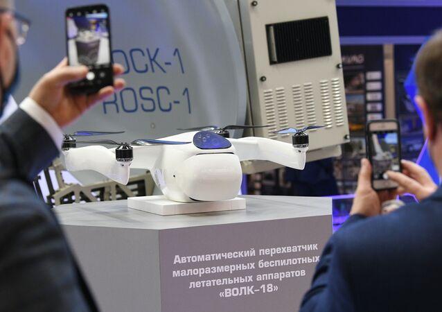 Nova versão do drone interceptador russo Volk-18