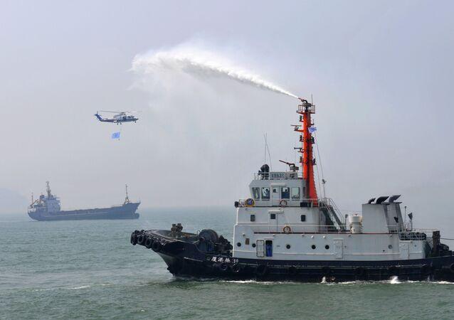Treinamento marítimo China em Taiwan