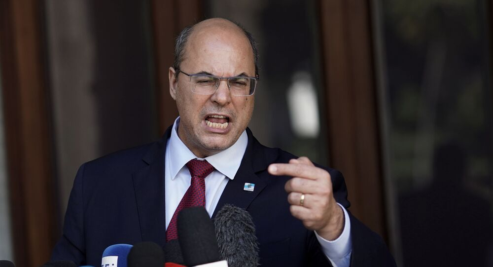 Governador afastado do Rio de Janeiro, Wilson Witzel
