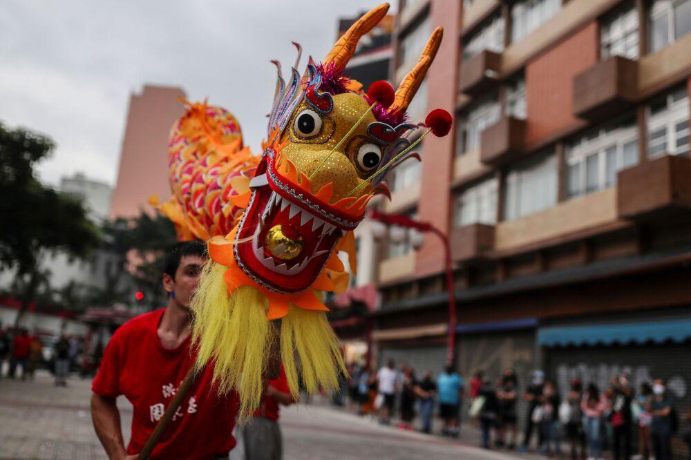 Celebrações do Ano Novo chinês em São Paulo, 12 de fevereiro de 2021