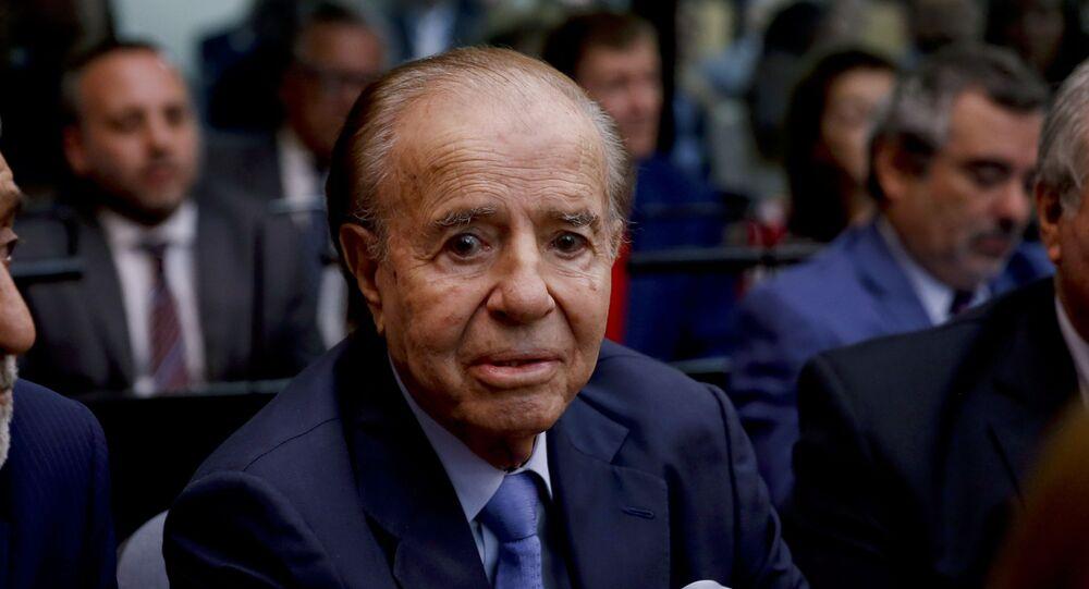 Carlos Menem, ex-presidente da Argentina.