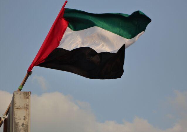 Bandeira dos Emirados Árabes Unidos (imagem referencial)