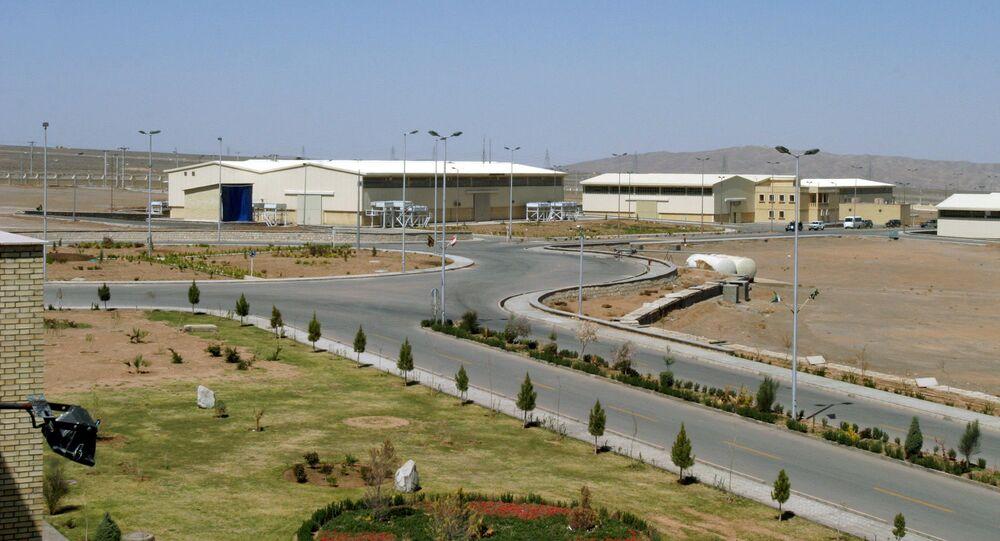 Fábrica de enriquecimento de urânio de Natanz, localizada a 250 quilômetros de Teerã, Irã, 30 de março de 2005