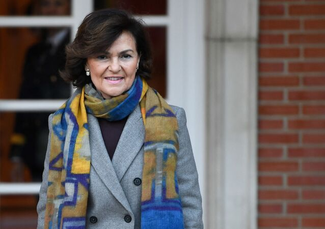 A primeira vice-presidente de governo da Espanha, Carmen Calvo