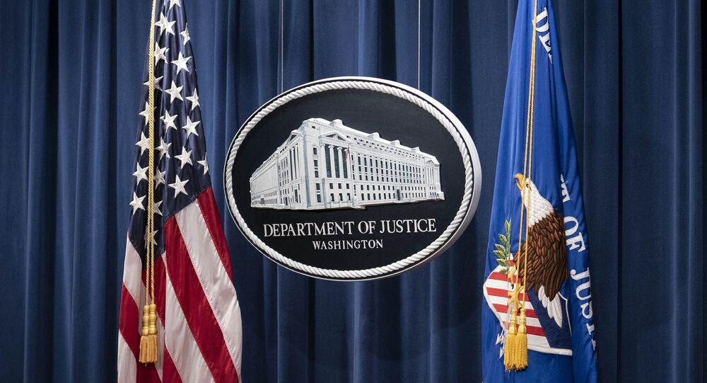 Departamento de Justiça norte-americano em Washington, EUA, 12 de janeiro de 2021