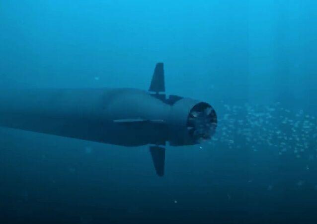 Drone subaquático multifuncional russo Poseidon
