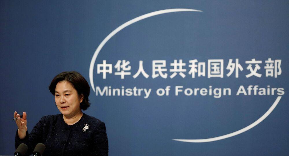 Hua Chunying, porta-voz do Ministério das Relações Exteriores da China, participa de coletiva de imprensa em Pequim, China, 21 de janeiro de 2021