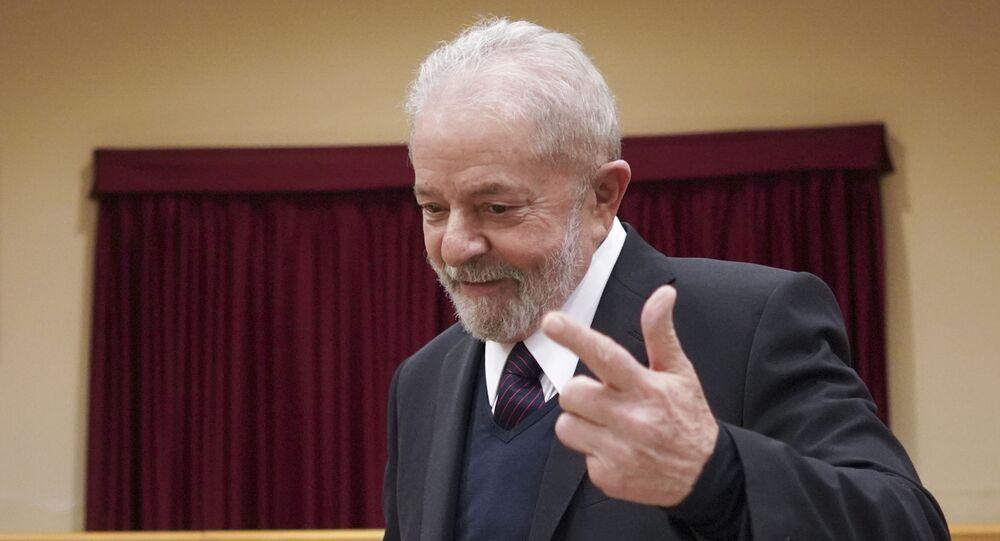 Ex-presidente Luiz Inácio Lula da Silva participa de encontro em Roma, na Itália