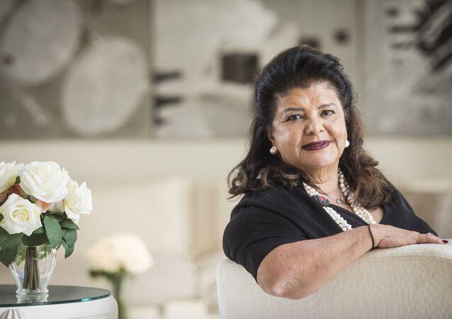 Empresária Luíza Trajano, presidente do Conselho Empresarial do Magazine Luiza, fotografada em São Paulo, 11 de maio de 2020 (foto de arquivo)
