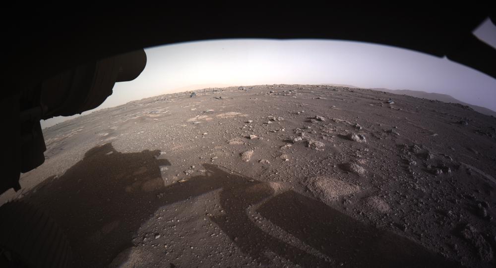 Fotografias tiradas pelo rover Perseverance da NASA, que aterrissou em Marte em 18 de fevereiro na cratera Jezero