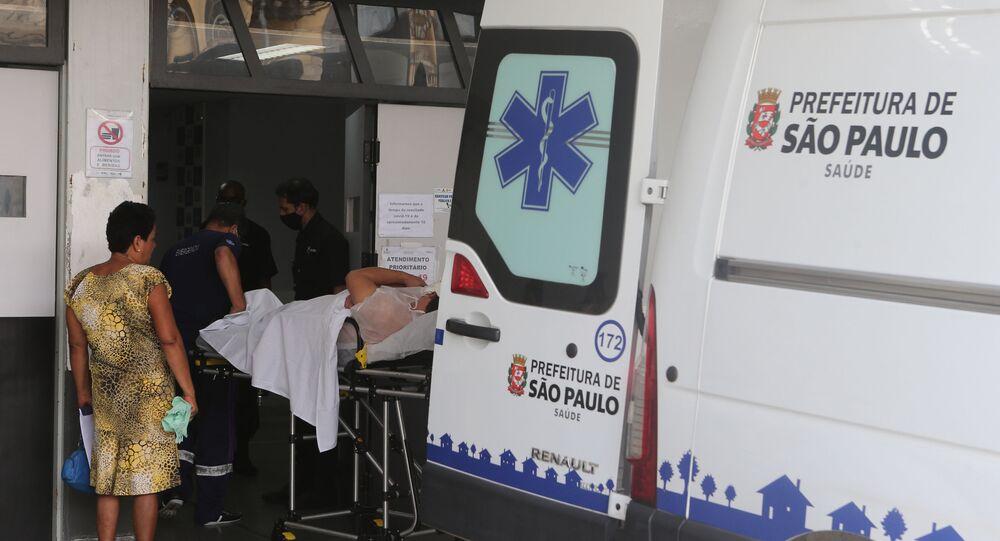 Movimentação no hospital Tide Setubal, em São Paulo
