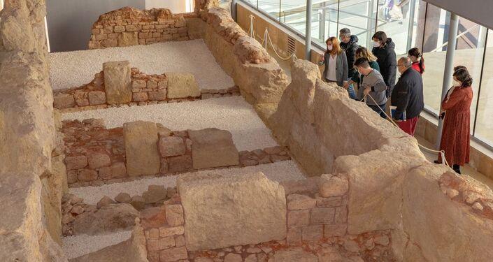 Fragmento da Muralha Púnica de Cartagena, Espanha