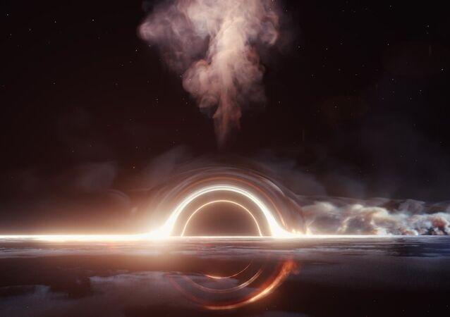 Depois que o buraco negro supermassivo destruiu a estrela, cerca de metade dos restos da estrela foi atirada de volta para o espaço, enquanto o restante formou um disco de acreção brilhante ao redor do buraco negro