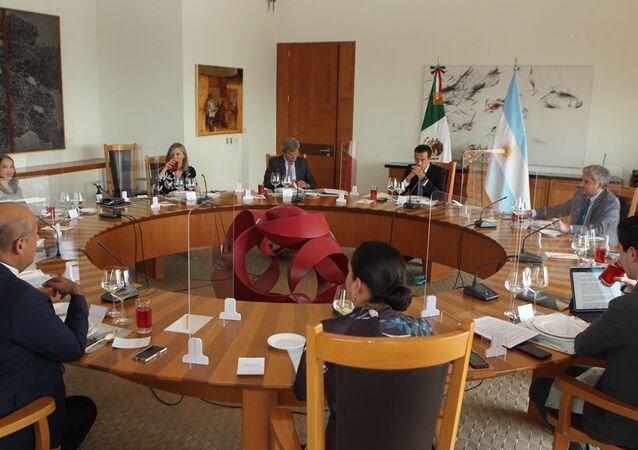 Reunião de trabalho das delegações das chancelarias mexicana e argentina na Secretaria de Relações Exteriores do México