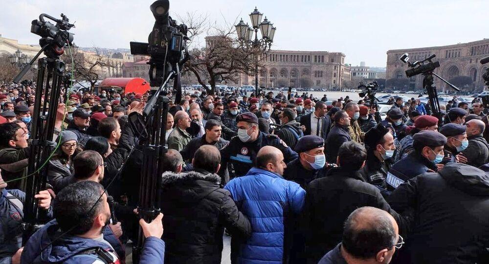 Manifestação em Erevan (foto de arquivo)