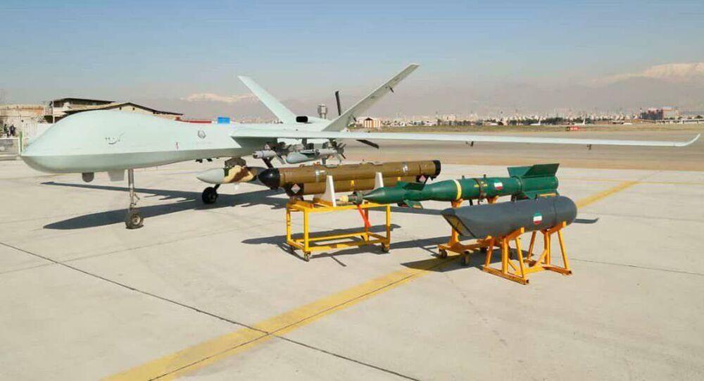 Primeiro drone de combate iraniano Kaman-22