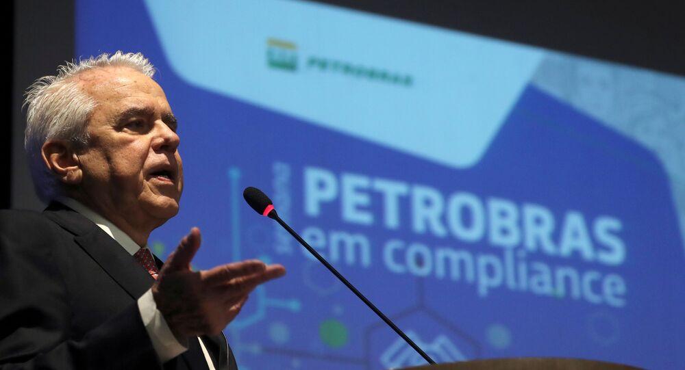 Roberto Castello Branco, então presidente da Petrobras, durante discurso em evento no Rio de Janeiro, no dia 9 de dezembro de 2019