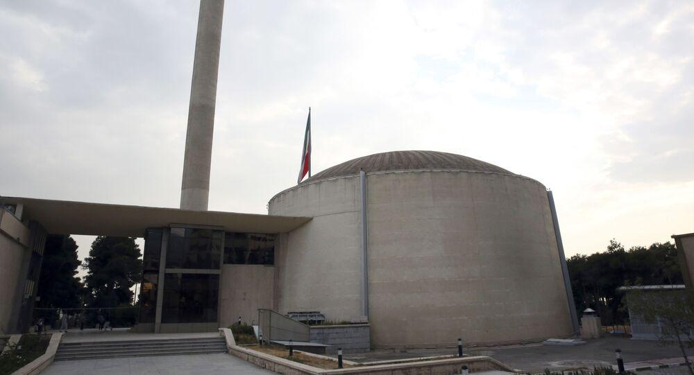 Reator de pesquisa nuclear na sede da Organização de Energia Atômica iraniana em Teerã, Irã, 1º de setembro de 2014